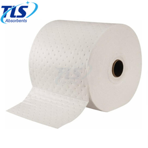 Large Meltblown White Oil Spill Absorbent Roll 80cm*50m*8mm