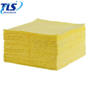 Hostipal Fuel Spills Yellow Polypropylene Absorbent Chemical Hazardous Spill Mats
