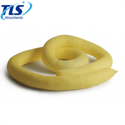 125L Meltblown Chemical Hazmat Absorbent Socks and Booms Yellow