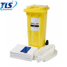 660Litres Oil Only Emergency Spill Kit with Yellow Wheelie Bin