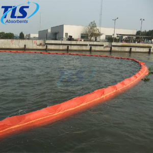 Orange Solid Float Type PVC Oil Containment Boom