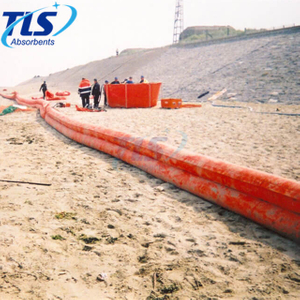 Yellow PVC Air-filled Beach Barrier For Ocean Pollution