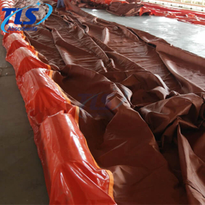 Yellow heavy duty silt curtain for debris